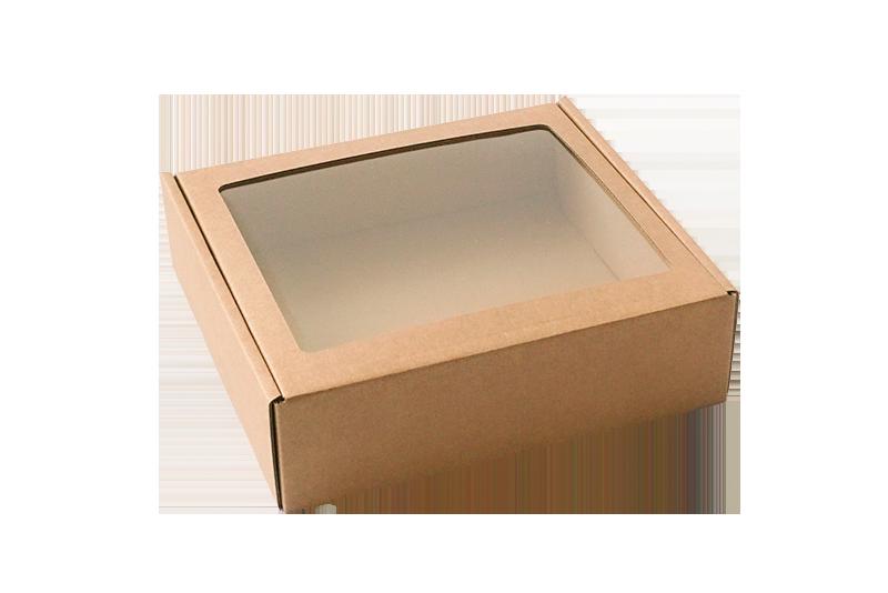 Dárkvá krabice s průhledným víkem