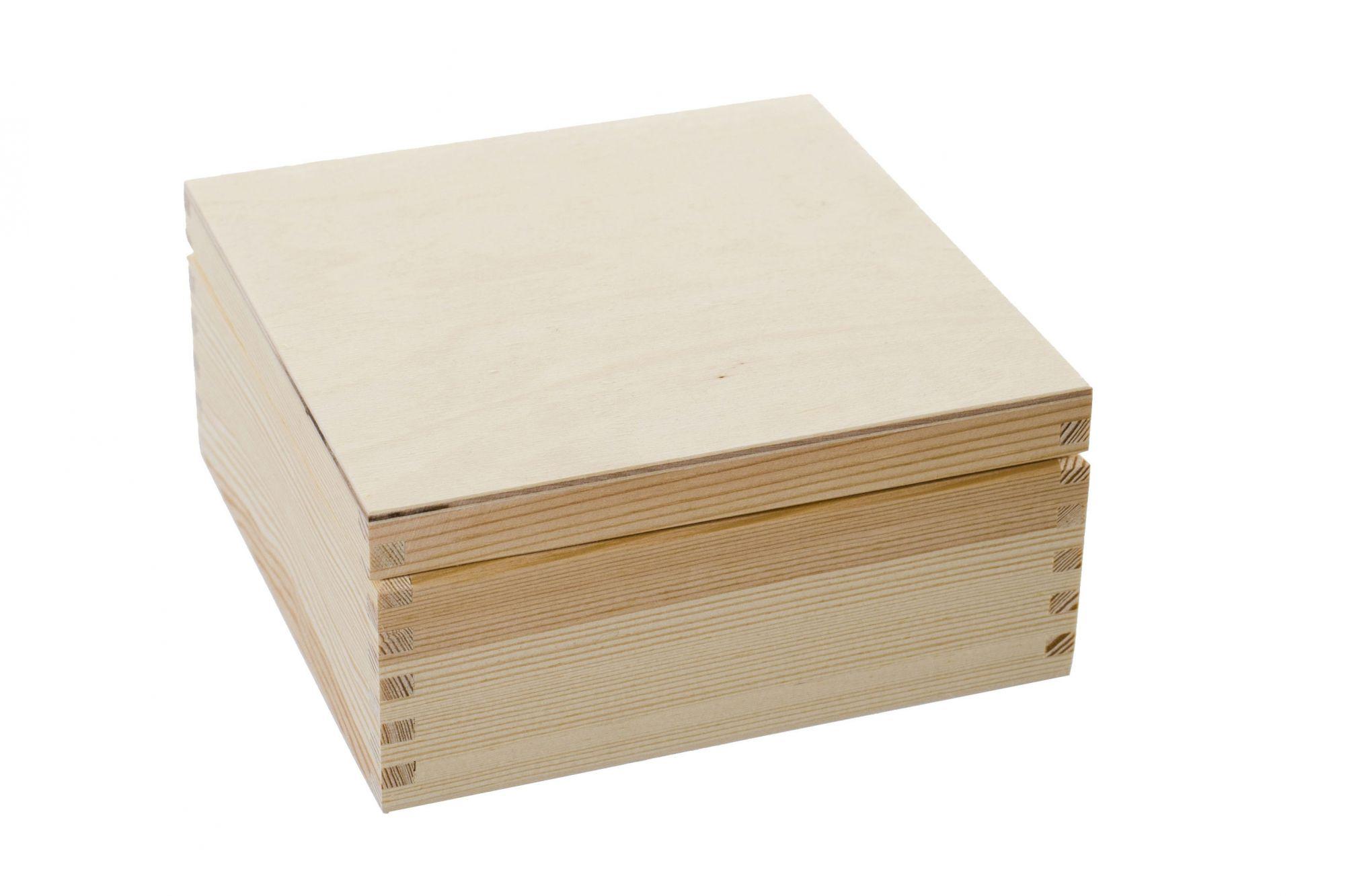 Krabička ze dřeva s víkem