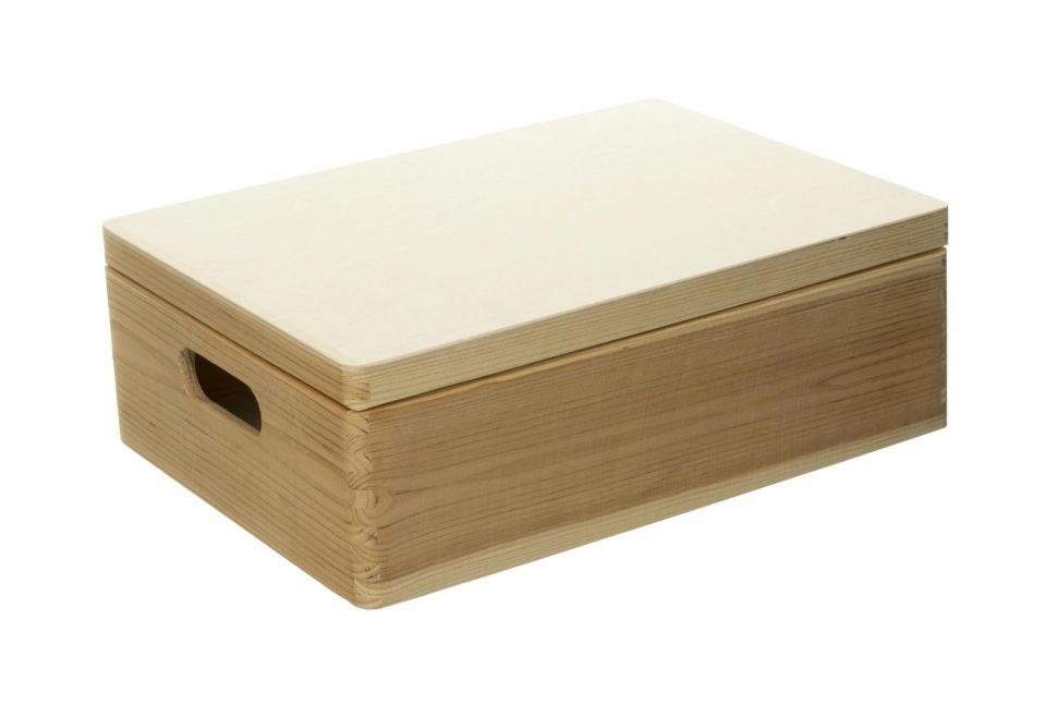 Dřevěná krabice s víkem