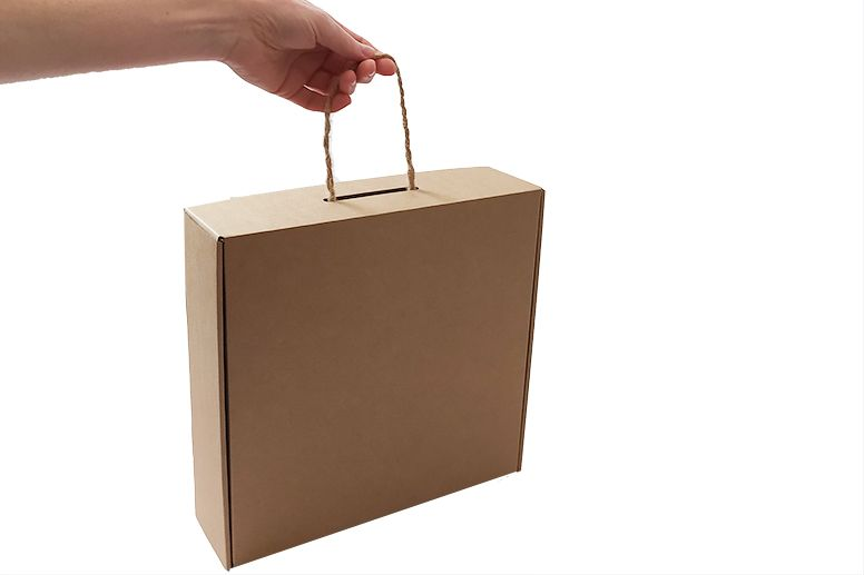 Dárková krabice hnědá