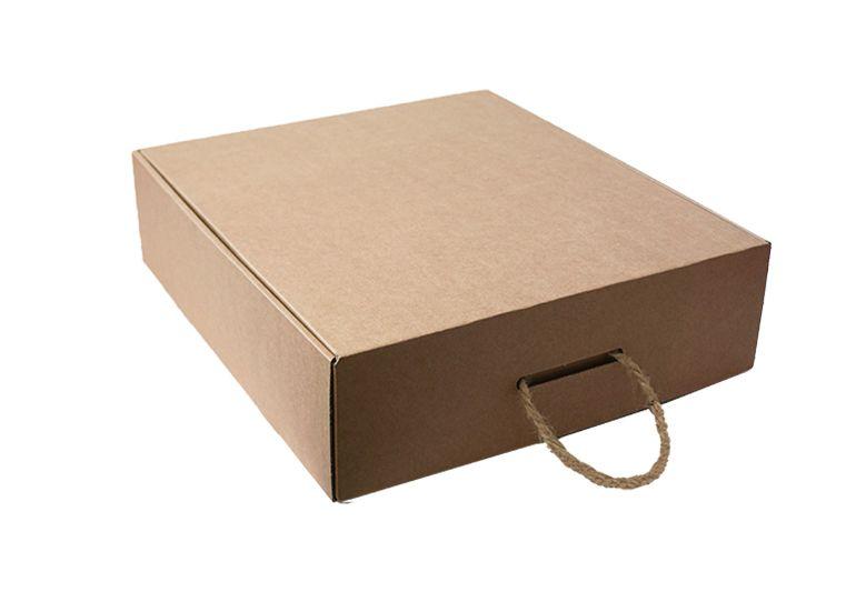 Hnědá krabice 400x330x90mm