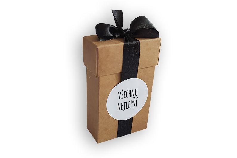 Dárková krabička s etiketou