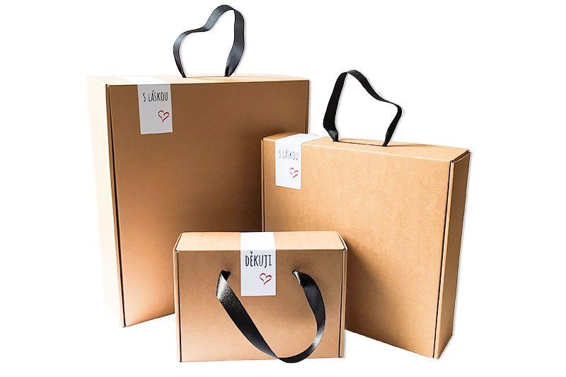 Papírové dárkové krabice velké
