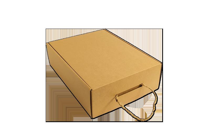 Dárková jednodílná krabice s uchem