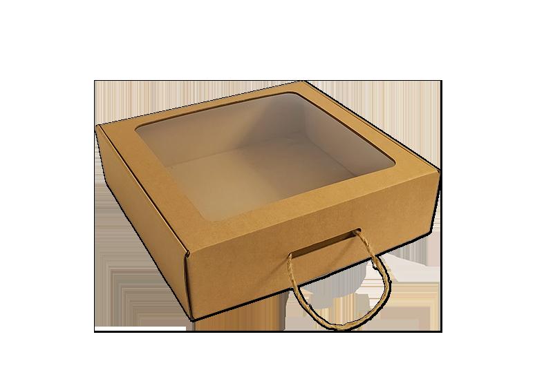 Jednodílná dárková krabice s průhledným víkem