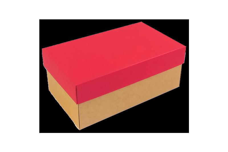 Dárková krabička s červeným víkem