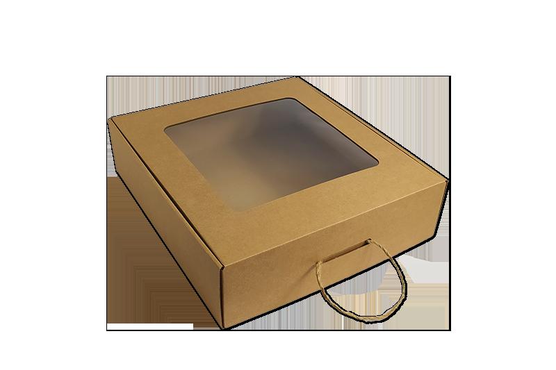 Dárková jednodílná papírová hnědá krabice